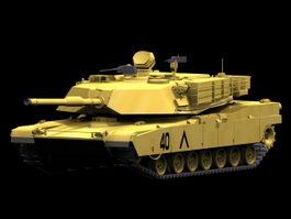 M1A1 Abrams tank 3d model
