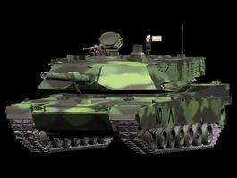M1A2 main battle tank 3d model