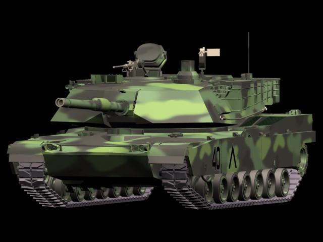 M1A2 main battle tank 3d rendering