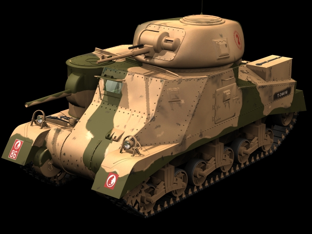 M3 Lee Medium Tank 3d Model 3dsmax Files Free Download