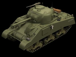 M4A3 Sherman Medium tank 3d model