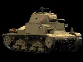 Fiat M13/40 Medium tank 3d model