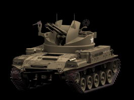 M42 Duster Anti-Aircraft tracked vehicle 3d model