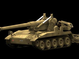 M110A2 self-propelled artillery 3d model