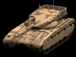 Merkava main battle tank 3d model