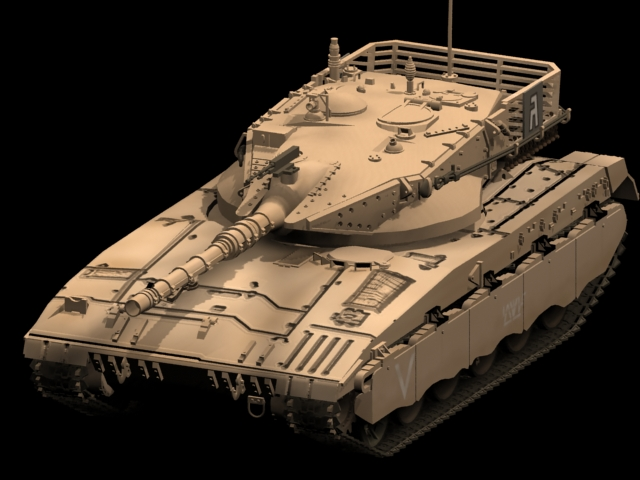 Merkava Main Battle Tank 3d Model 3dsmax Files Free