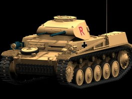 Panzer II tank 3d model