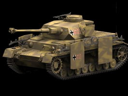 Panzer IV medium tank 3d model