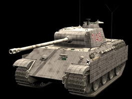 Panzer V panther medium tank 3d model