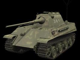 Panther Ausf. D tank 3d model