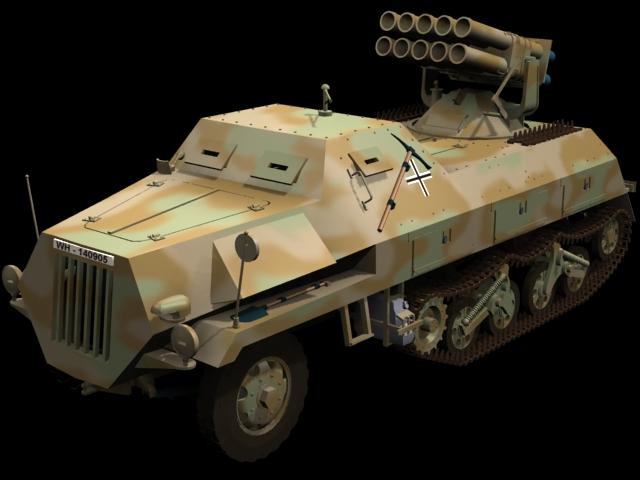 Panzerwerfer 42 multiple rocket launcher 3d model - CadNav