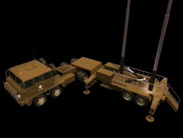 Patriot surface-to-air missile system 3d model