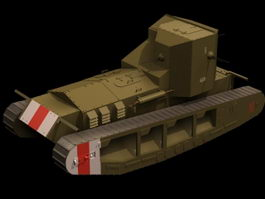 Whippet Mk A medium tank 3d model