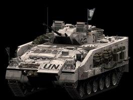 Warrior infantry fighting vehicle 3d model