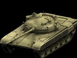 Macedonian T-72A tank 3d model