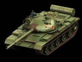 T-62 Russian tank 3d model