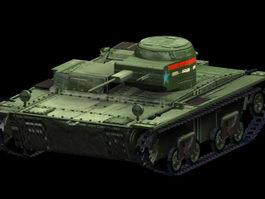 T-38 light tank 3d model