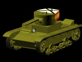 T-26 tank 3d model