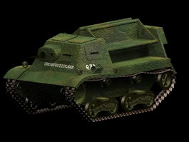 T-20 artillery tractor 3d model