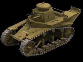 T-18 light tank 3d model