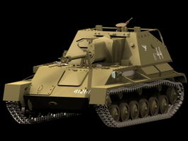 SU-76 self-propelled gun 3d model