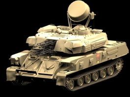 Shilka ZSU-23-4 self-propelled anti-aircraft gun 3d model