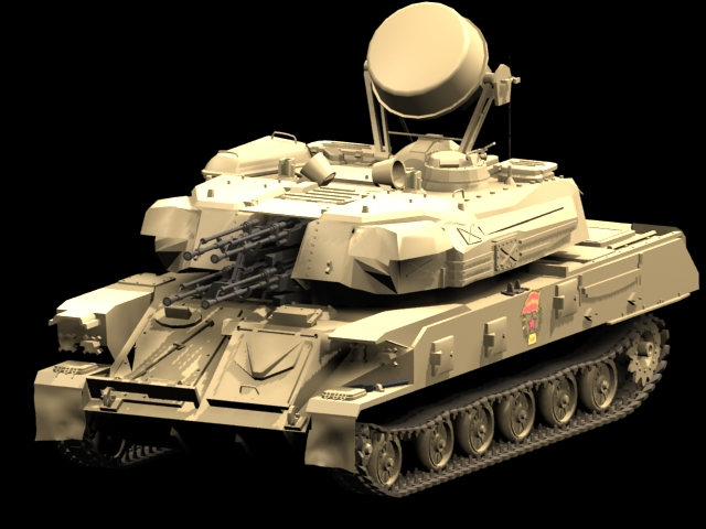 Shilka Zsu 23 4 Self Propelled Anti Aircraft Gun 3d Model