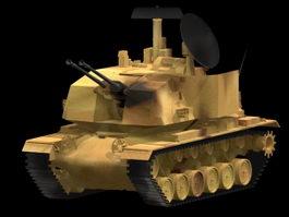 M247 Sergeant York self-propelled antiaircraft gun 3d model