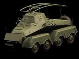 SdKfz 232 armored car 3d model