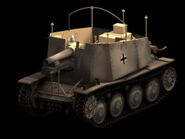 SdKfz 138/1 Grille self propelled artillery 3d model