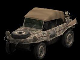 Volkswagen Schwimmwagen amphibious car 3d model