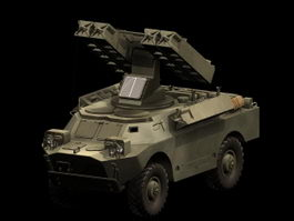 SA-9 Gaskin Vehicle-mounted SAM system 3d model