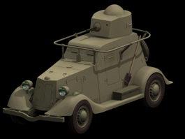 BA-20 Armored car 3d model