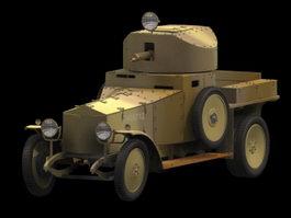 Rolls Royce Mk1 Armoured Car 3d model