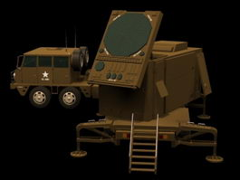 Patriot AN/MPQ-53 radar set 3d model