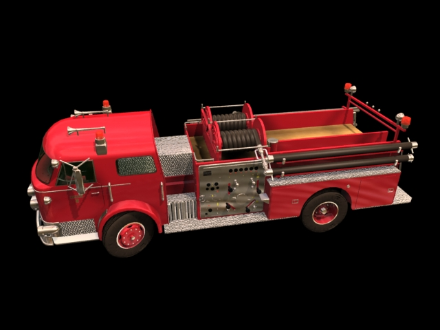 Pumper Fire Truck 3d Model 3dsmax Files Free Download
