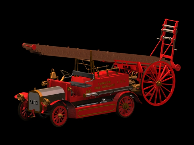 Dennis N Type Fire Engine 3d Model 3dsmax Files Free