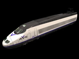 AVE high speed train 3d model
