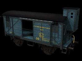 Railroad boxcar 3d model