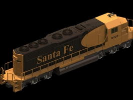 EMD SD40 locomotive 3d model