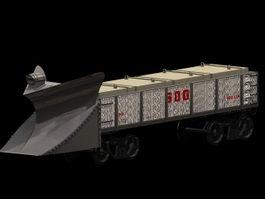 Rail snowplow 3d model
