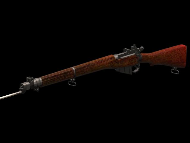 Lee Enfield 303 Rifle 3d Model 3dsmax Files Free Download