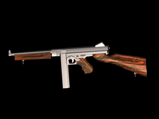 9c810547034e Thompson submachine gun 3d model 3dsmax files free download ...