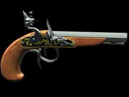 Buccaneer handgun 3d model