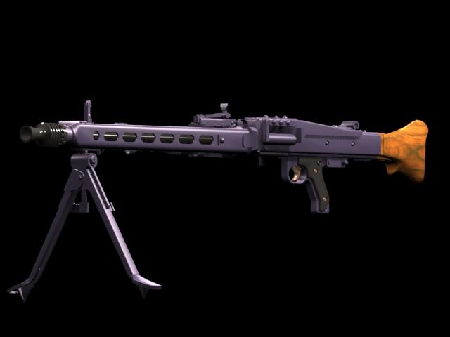 MG 42 machine gun 3d model 3dsmax files free download - modeling
