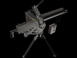 M1919 Browning machine gun 3d model