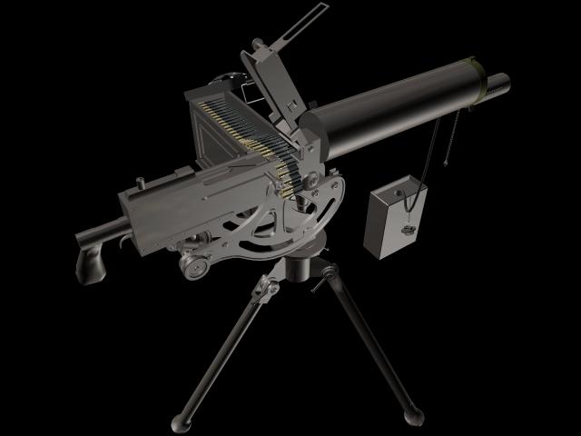 M1919 Browning Machine Gun 3d Model 3dsmax Files Free