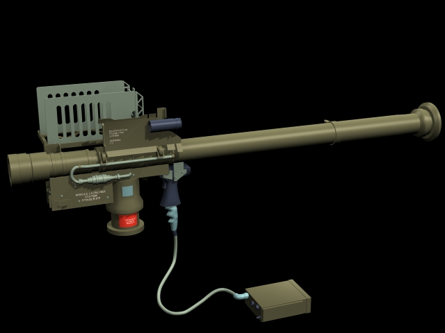FIM 92 Stinger Missile Launcher 3D Model