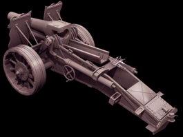SIG 33 Heavy infantry gun 3d model