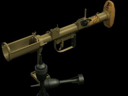 PIAT anti-tank weapon 3d model